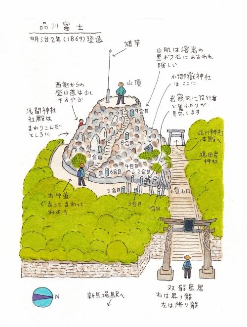 [5] 小さくても迫力満点! 品川富士/品川区北品川
