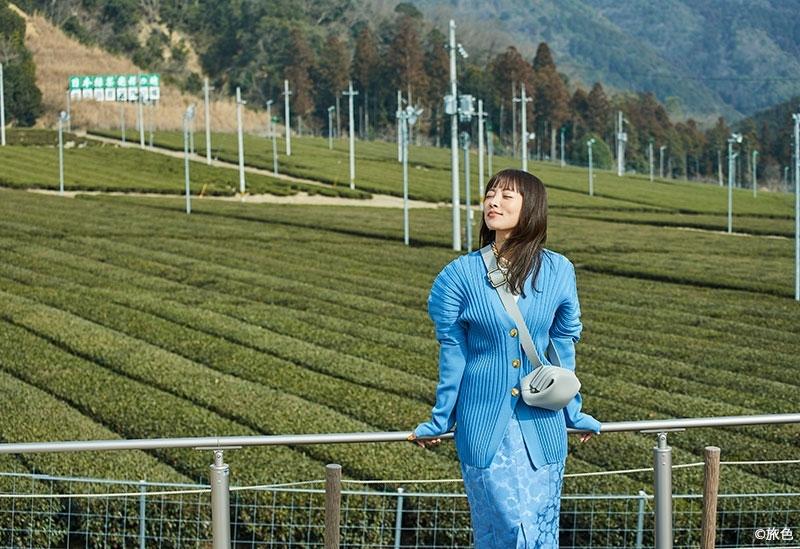 初めて見る広大な茶畑で、思わず深呼吸