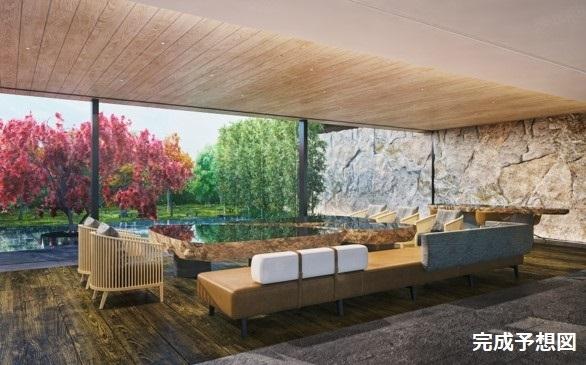 ロビーや客室から美しい日本庭園が眺められるステキなデザイン