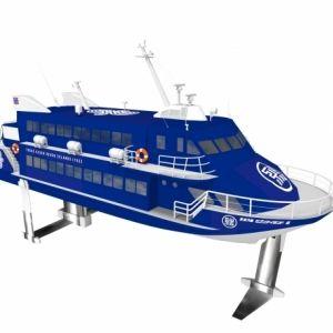 東京2020エンブレムデザイナー野老朝雄氏デザインの超高速旅客船が7月13日から運行開始