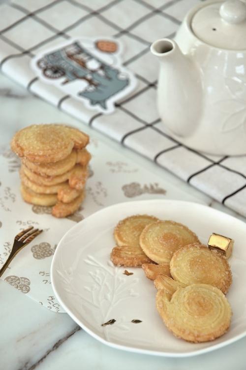 カタツムリ型クッキーは、お茶うけにぴったり。