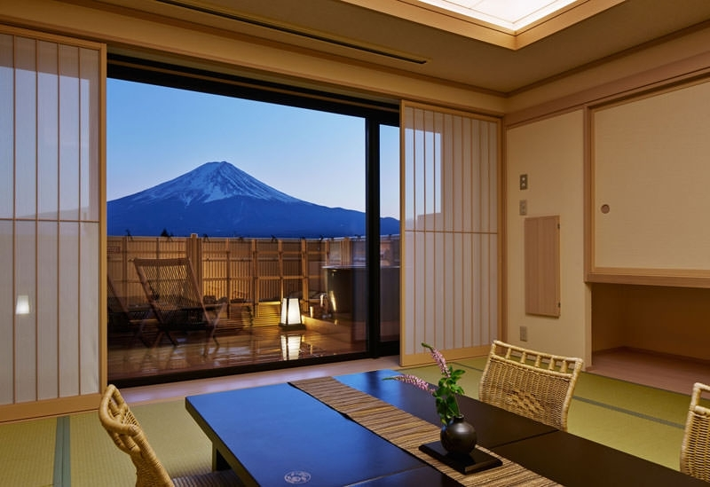 富士山が眺められる客室
