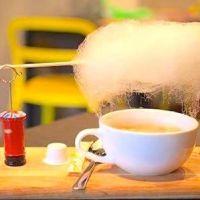 """コーヒーの上に""""雲""""!?不思議なメニューを提供する話題のカフェ"""