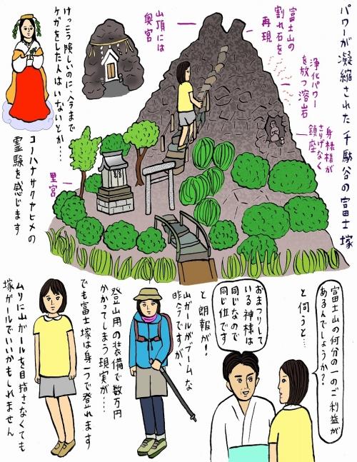 富士山に登れない今、ここへ「富士塚」(千駄ヶ谷)
