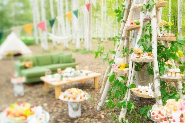 白樺に囲まれて過ごす贅沢ガーデンピクニック