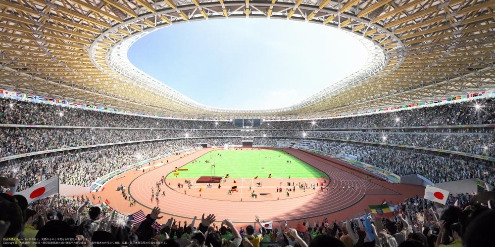 12月21日に初の一般公開を予定「新国立競技場」
