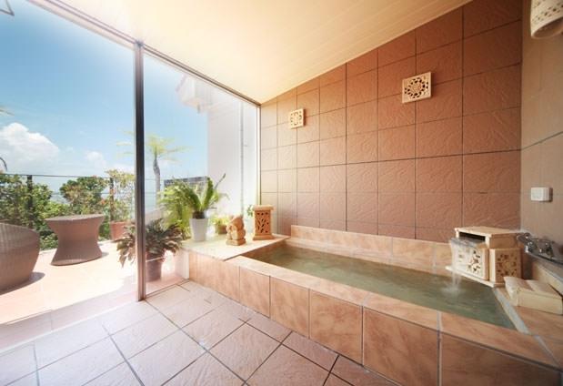 バスルームからの眺望も抜群