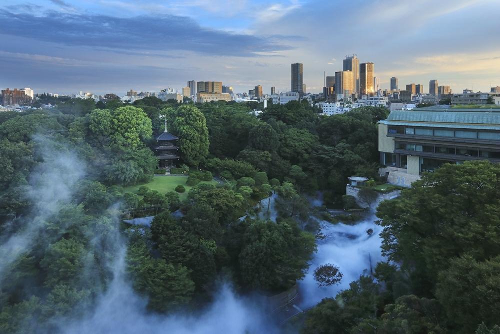 朝の雲海は、宿泊者だけが見られる特別な風景!「ホテル椿山荘東京」