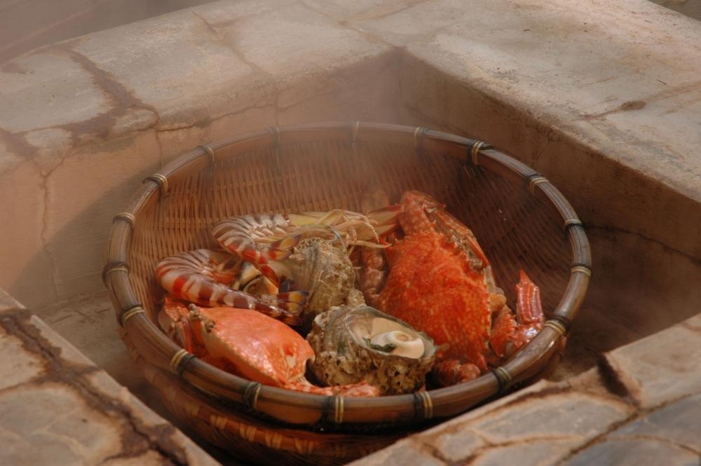 1日目:「地獄蒸し工房 鉄輪」で昼食