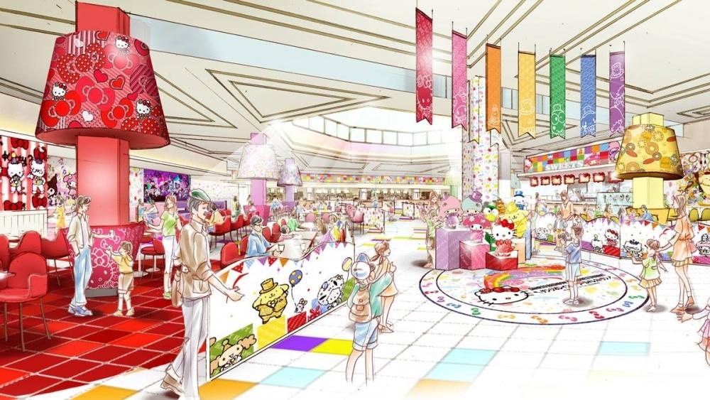 東京都多摩市でキティに会える「サンリオレインボーワールドレストラン」の魅力①テーマは虹