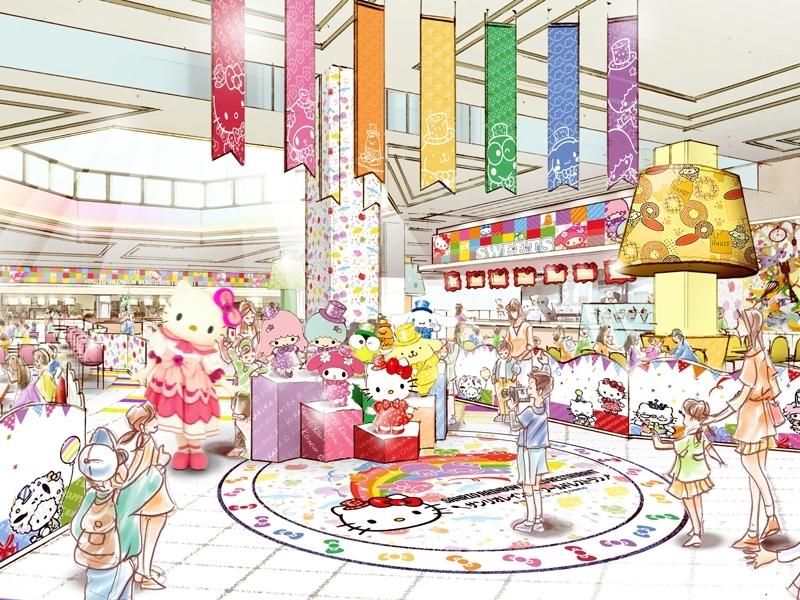 東京都多摩市でキティに会える「サンリオレインボーワールドレストラン」の魅力③記念撮影できるエリアもある