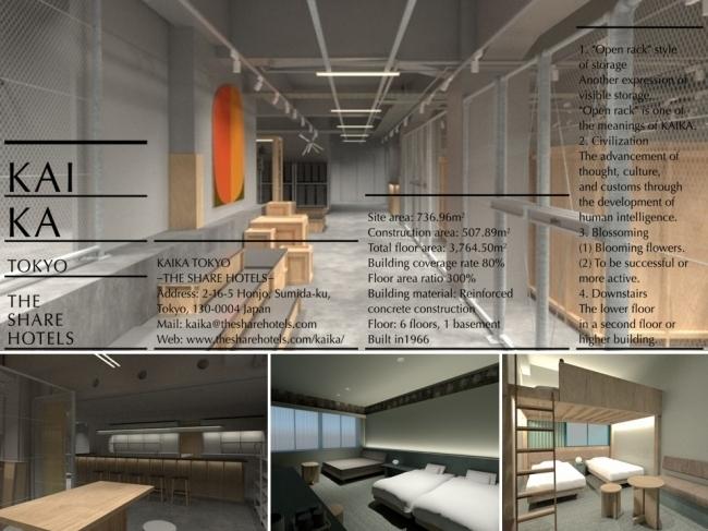 アートストレージ(収蔵庫)を併設したリノベホテル「KAIKA TOKYO –THE SHARE HOTELS」@浅草
