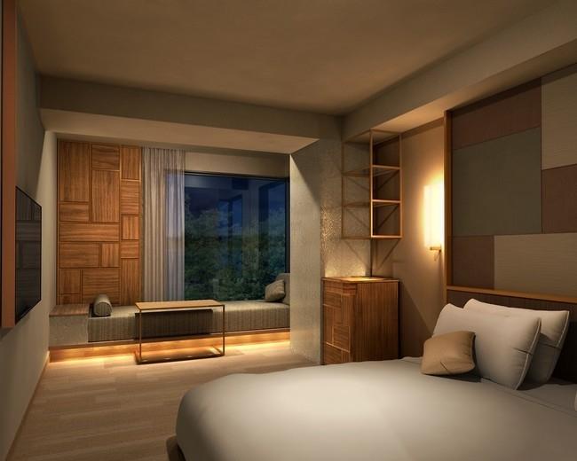 客室は全部で106室。大浴場や畳のラウンジも素敵