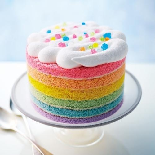 SNS映え間違いなし! 夢かわいいレインボーアイスケーキ