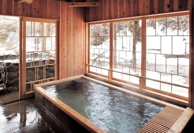 日本屈指の強食塩冷鉱泉が堪能できる