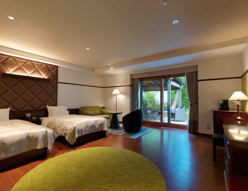 室内にいながら自然と一体化できる客室
