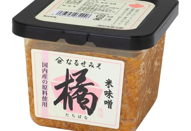 第3位:昔ながらの製法でつくる無添加味噌「橘 米こうじみそ」(佐賀県)
