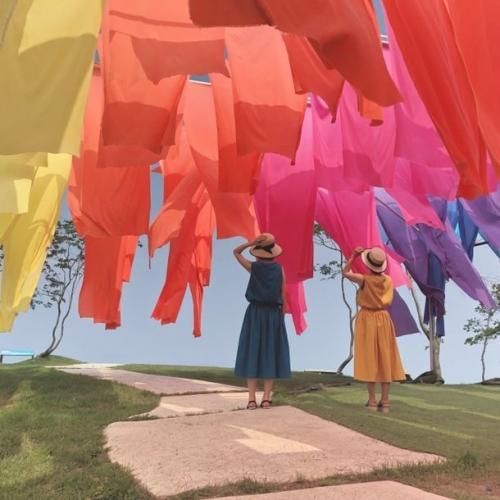 高島ちぢみ虹のカーテン