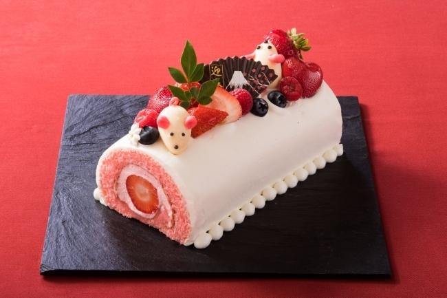「あけましておめでとうございマウス!紅白ロールケーキ」@リーガロイヤルホテル東京