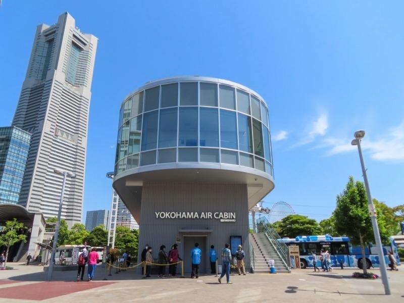【1】桜木町駅出てすぐ! さっそく「YOKOHAMA AIR CABIN」へ