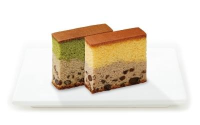 美しい2層のカステラ「カステラスイーツ綺麗菓」