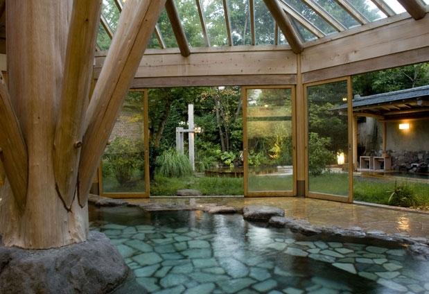 開放感のある大浴場