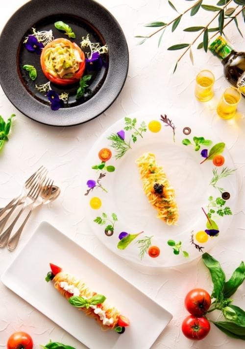 全部食べたい! 3種類の冷製パスタ ヨコハマ グランド インターコンチネンタル ホテル