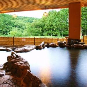 渓谷を望む大露天風呂で過ごす豊かな時間。「くつろぎの宿 向瀧」の魅力