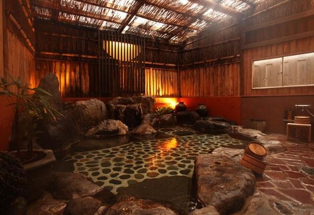 自然を感じる湯浴み