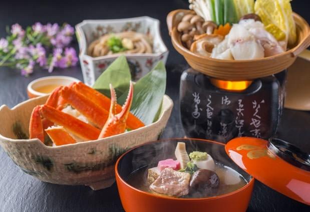 加賀の四季を感じられる2種類の会席料理