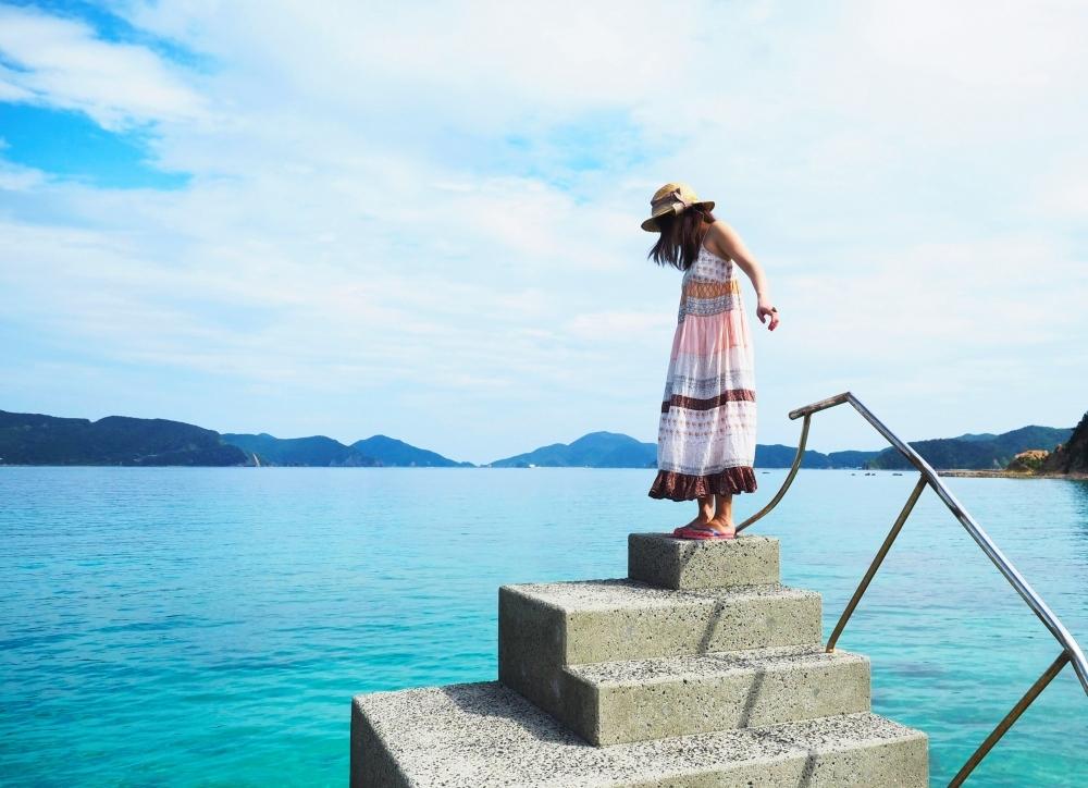 海の水色っぷりにびっくり! アクセス便利な「スリ浜」にはきっと寄ってみて