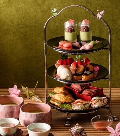 千里阪急ホテル 桜のスイーツを散りばめた、 和フタヌーンティーセット