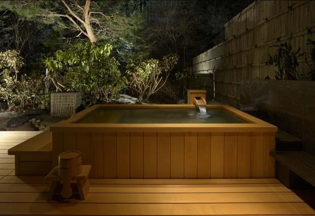 24時間好きな時間に入れる客室温泉