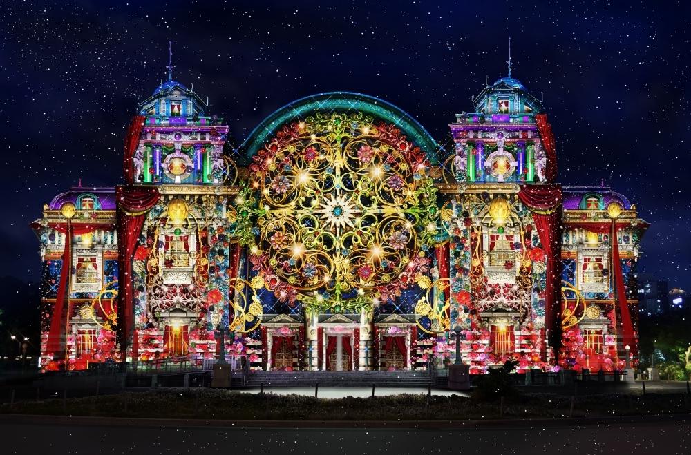 大阪の街が光に包まれる「Art of Light ~ Projection Mapping ~」