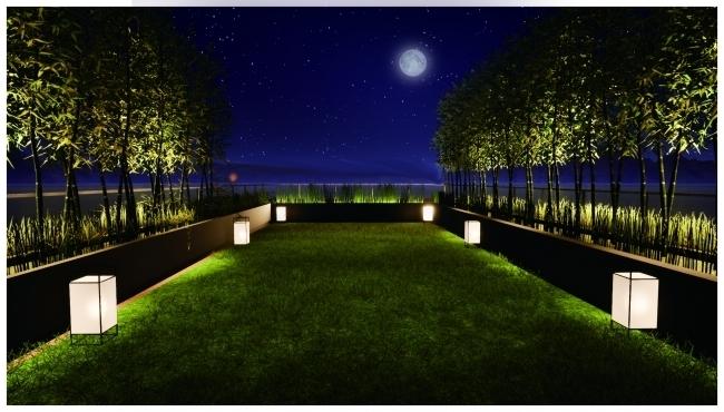 お月見専用庭園も!