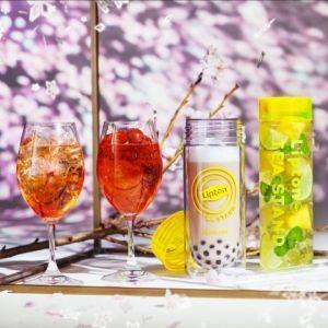 日本橋にLipton TEA STAND特別店舗がオープン! 最先端のお花見とスペシャルメニューで春満喫