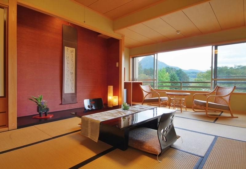 緑の眺めに癒される客室