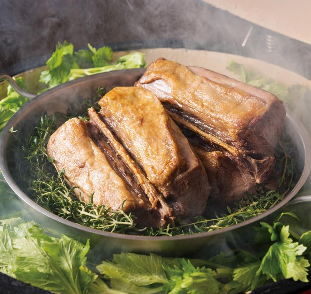 メインは4種類のお肉のコーナー