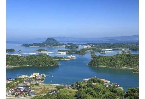 ②橋と島々がつくりだす真珠のような美しさ・天草五橋