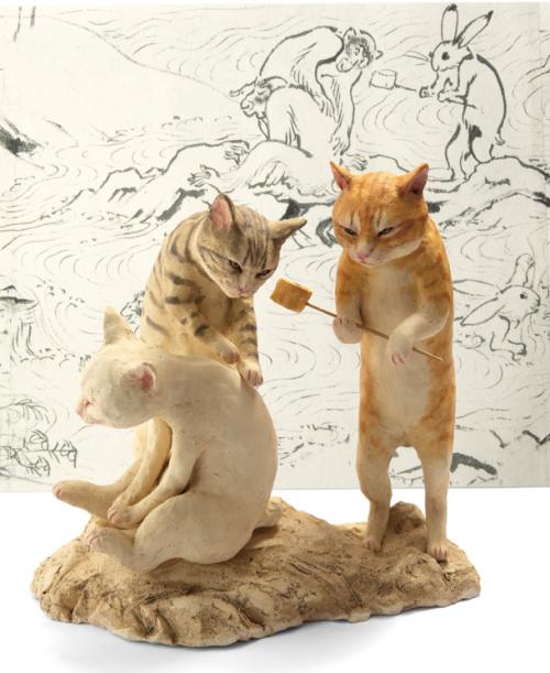 3,000点以上の猫アートが集結! 猫都のアイドル展at百段階段