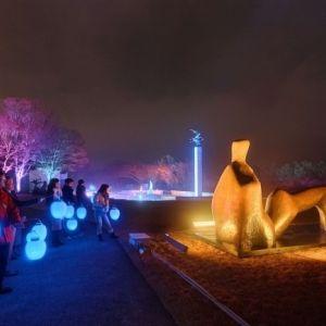寒い季節に光でほっこりあたたまる・幻想的な光の野外アート4選
