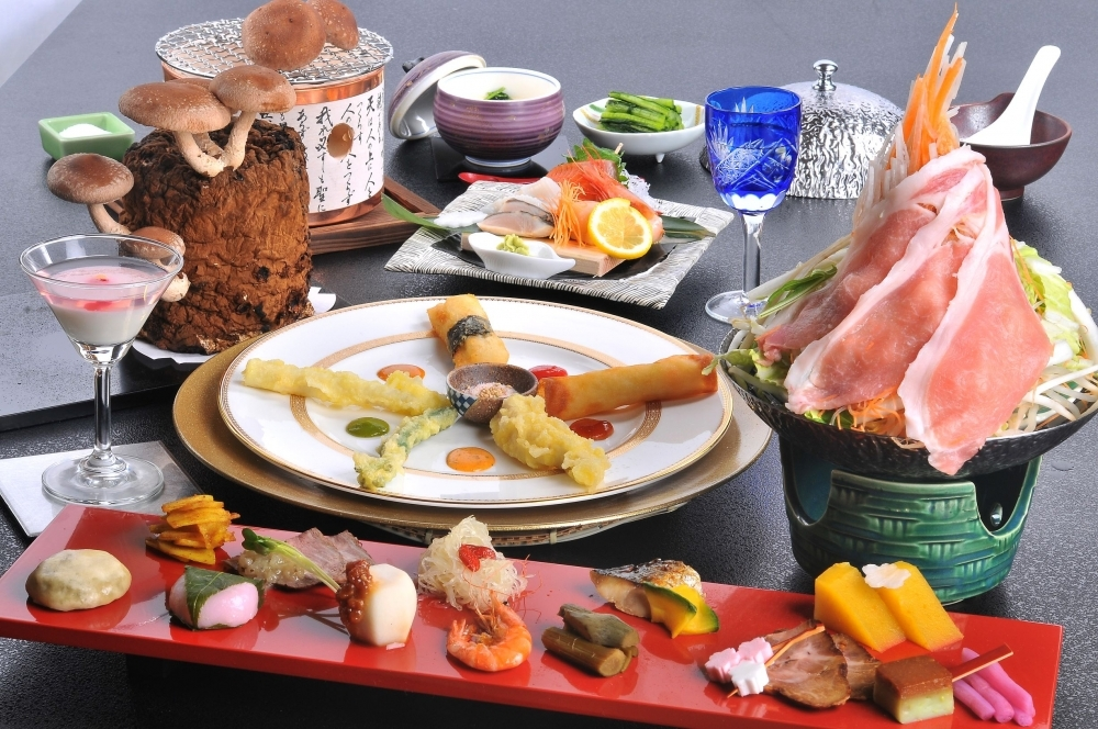 信州が誇る贅沢食材をふんだんに使った食事