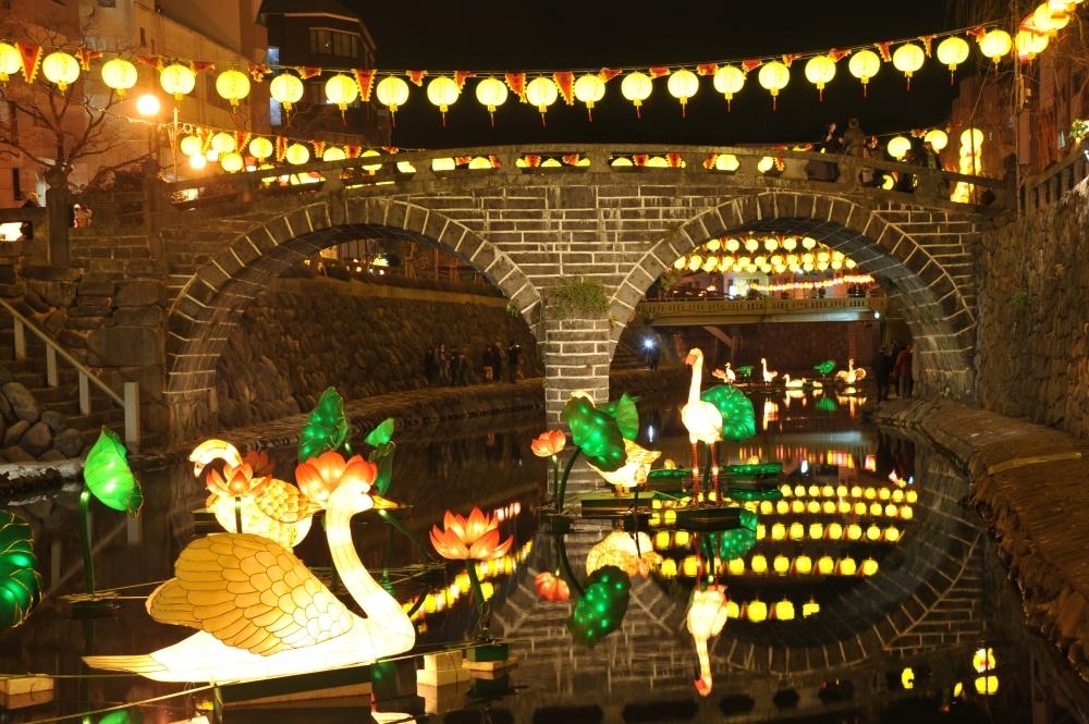 極彩色に染まり、まるで別世界「長崎ランタンフェスティバル2020」