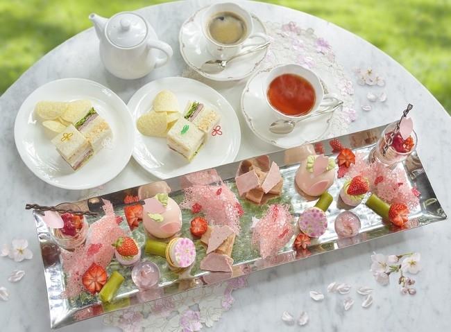 【リーガロイヤルホテル(大阪)】桜風味のスイーツを満喫「春のDessert&Tea