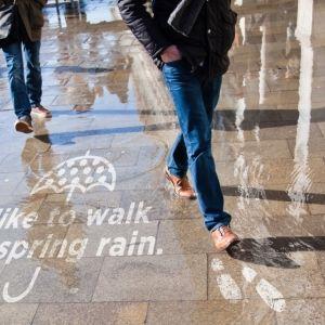水に濡れると浮かび上がる!フォトジェニックアートが横浜に期間限定で登場その0