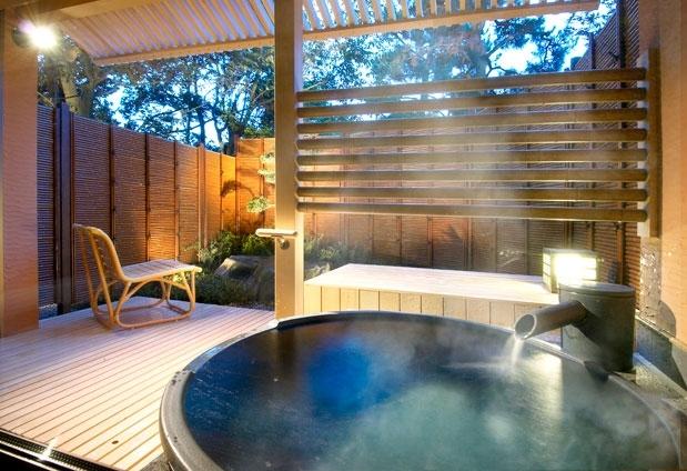 「あわら温泉 美松」の魅力①露天風呂付客室