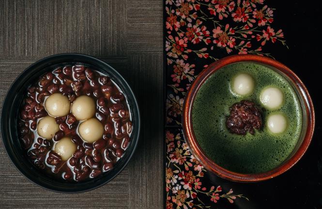 台湾のあずきで作るおぜんざいは、塩昆布つきの本格派。