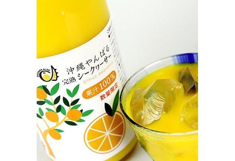 「完熟シークヮーサー100%果汁 720ml【数量限定】」