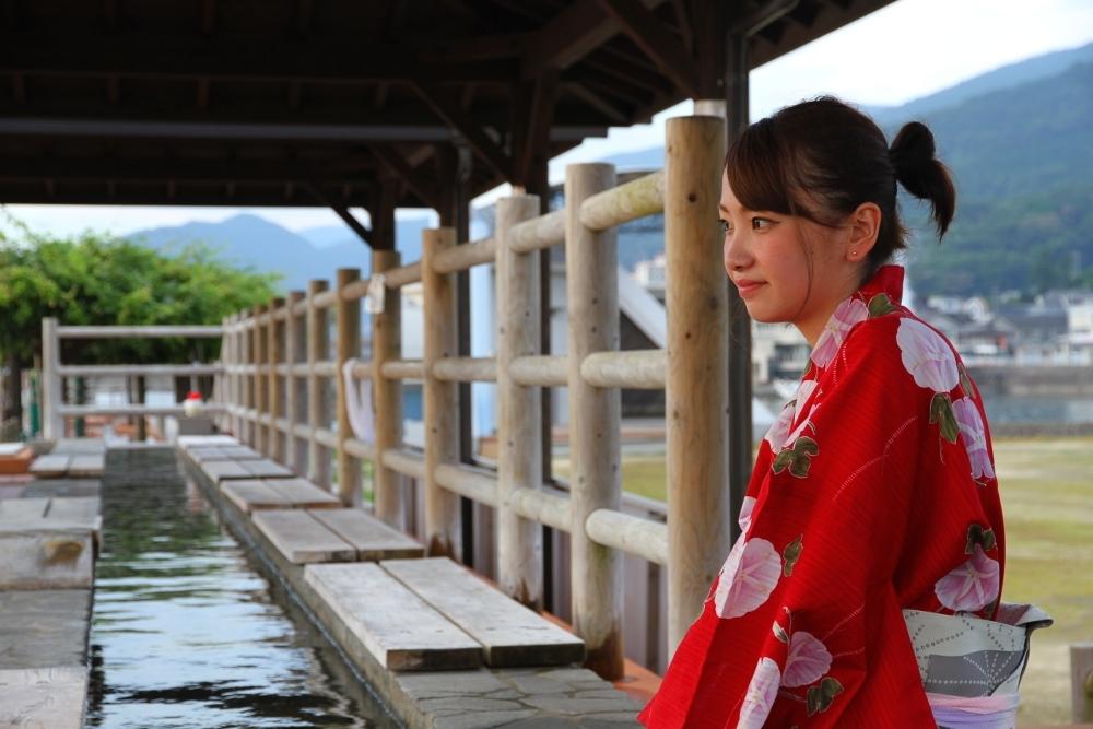 日本で一番の熱量を誇る小浜温泉の、日本で一番長い足湯でほっこりしようその3
