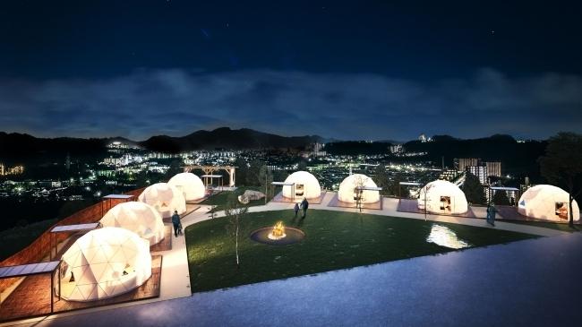 神戸の街を一望する絶景をひとり占めできる「グランドーム神戸天空」